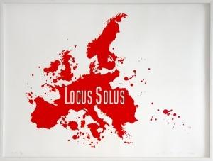 Carte rouge de l'Europe (Locus Solus)