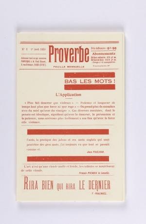 The Proverbe revue