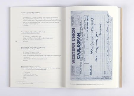 Correspondance Brancusi Duchamp